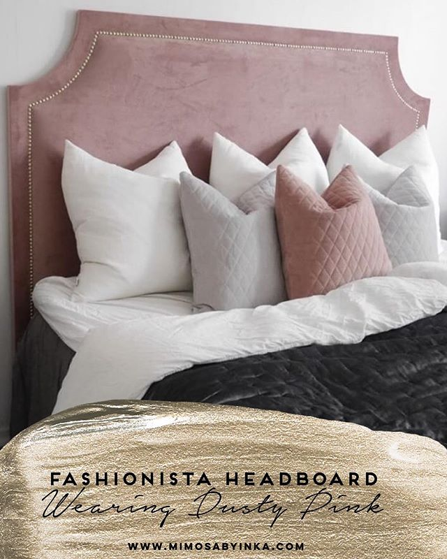 Fashionista Headboard - Pretty in Pink 💕 At home of our customer @albafridstrom - definitely one to follow for inspiration!  #Mimosabyimka #headboard #Stockholm