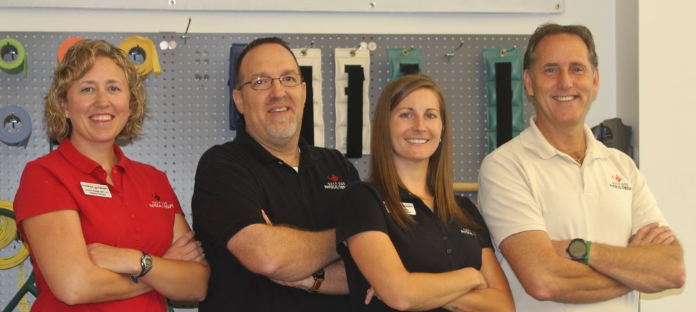Jennifer Holland, MPT, Doug Geiger, PT, SCS, CSCS, Lauren Wilson, PTA, Andy Michels, PT, MS