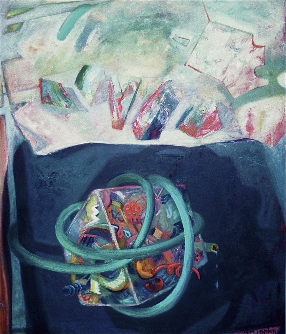 "DAVEY JONES LOCKER <br> 54"" x 45.5 <br> oil on canvas"