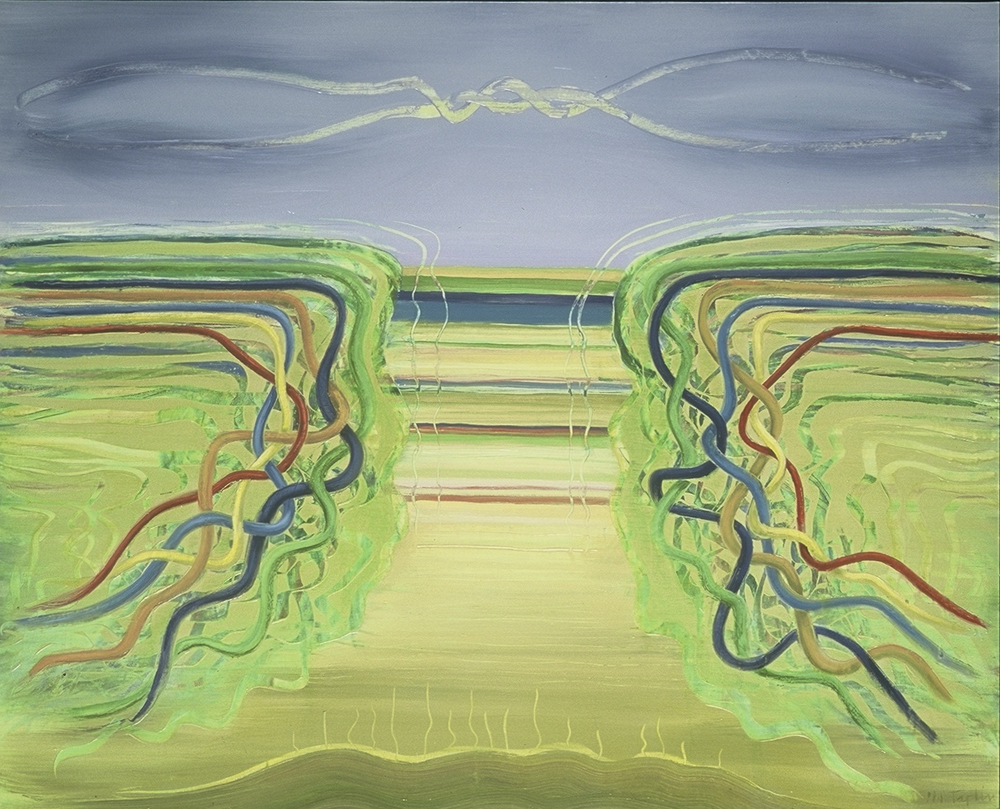 "SPLIT CONNECTION <br> 50"" x 64"" <br> oil on linen"
