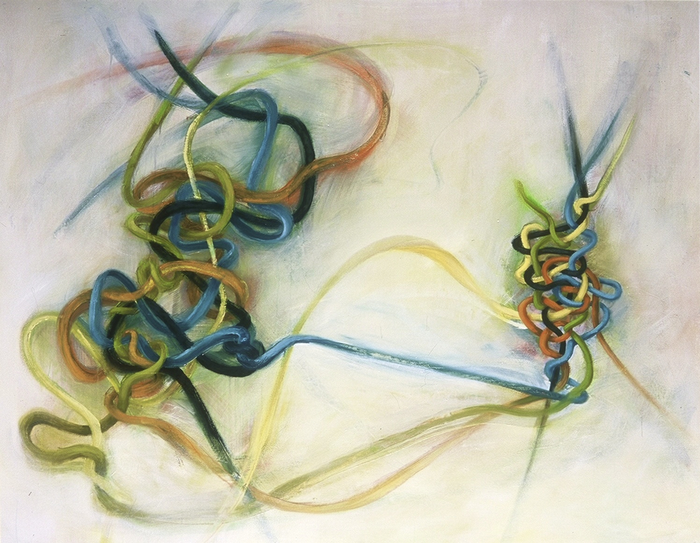 "ENTANGLEMENT <br> 50"" x 64"" oil on linen"