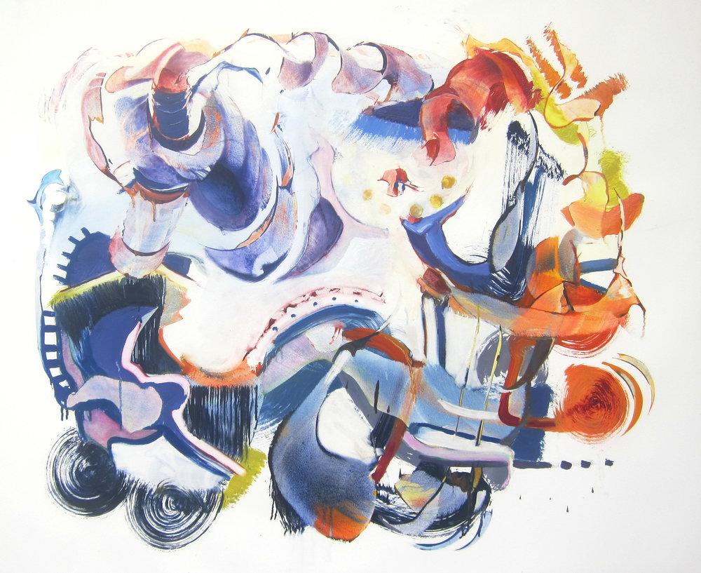 """ODESSA STEPS <br> 34"""" x 42"""" <br> oil on rag paper"""