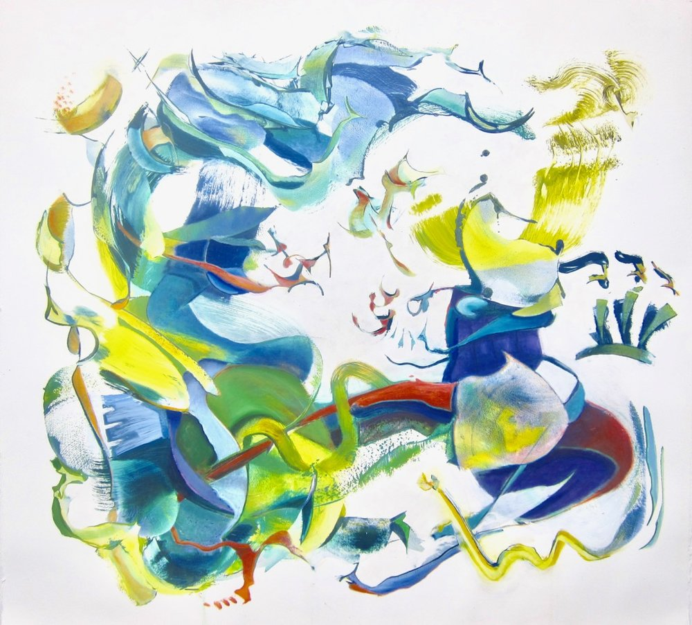 "Bubble <br>39"" x 42""<br>oil on rag paper"