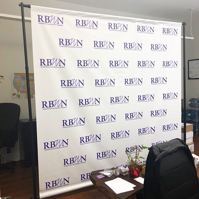 Our first time creating a banner this large (we love trying new things!). This banner lived in our office for a couple weeks, but it's off to the @rocklandbwn event tomorrow. Thanks @cgritmon for working with us!