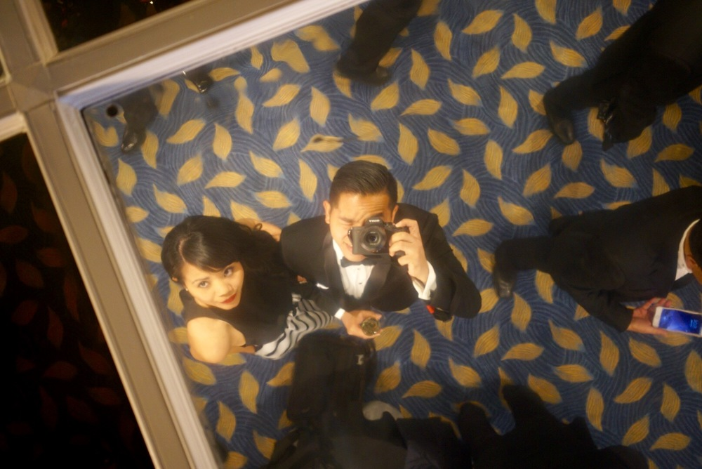 Probably the least sleazy photo ever taken of a mirrored ceiling.