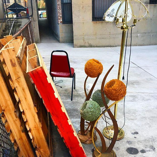 Impromptu living room  #chair #seatforone #flowerlamp #treasure