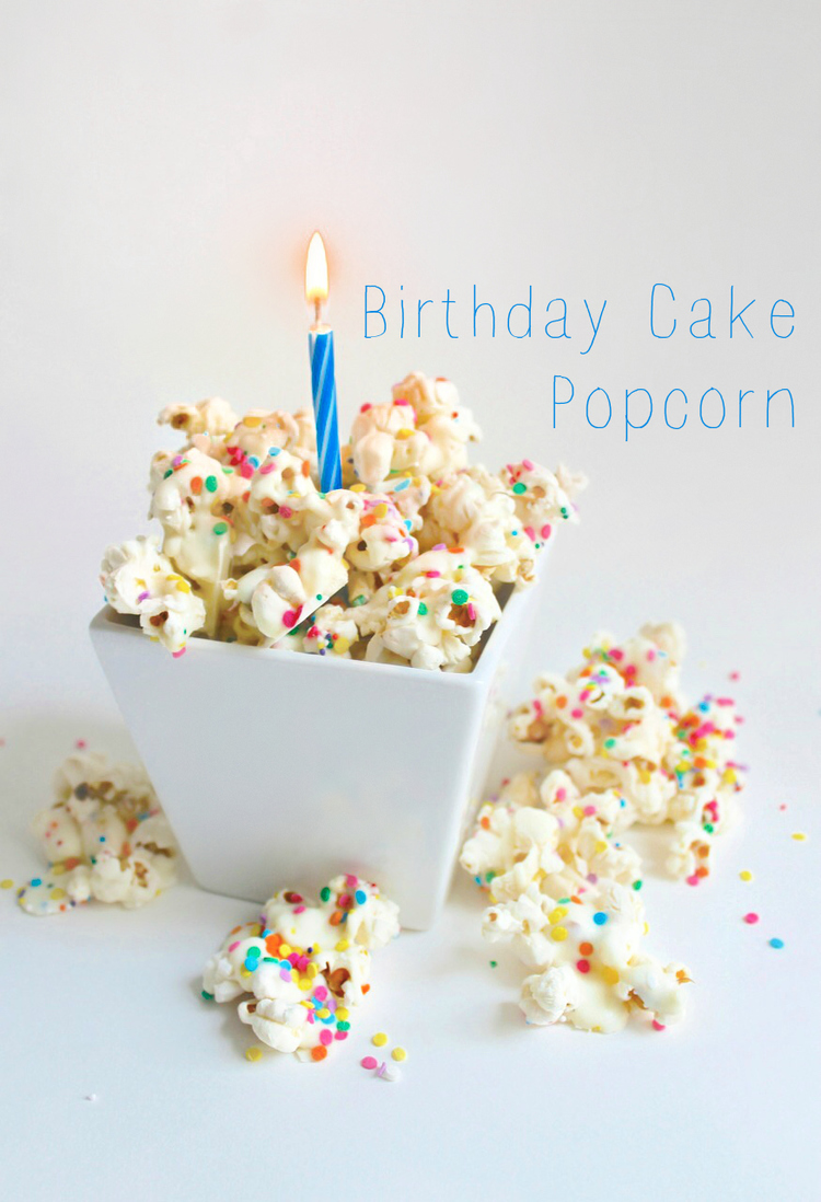 Just My Luck The Other Night I Recalled Seeing Some Recipes On Pinterest For Birthday Cake Popcorn