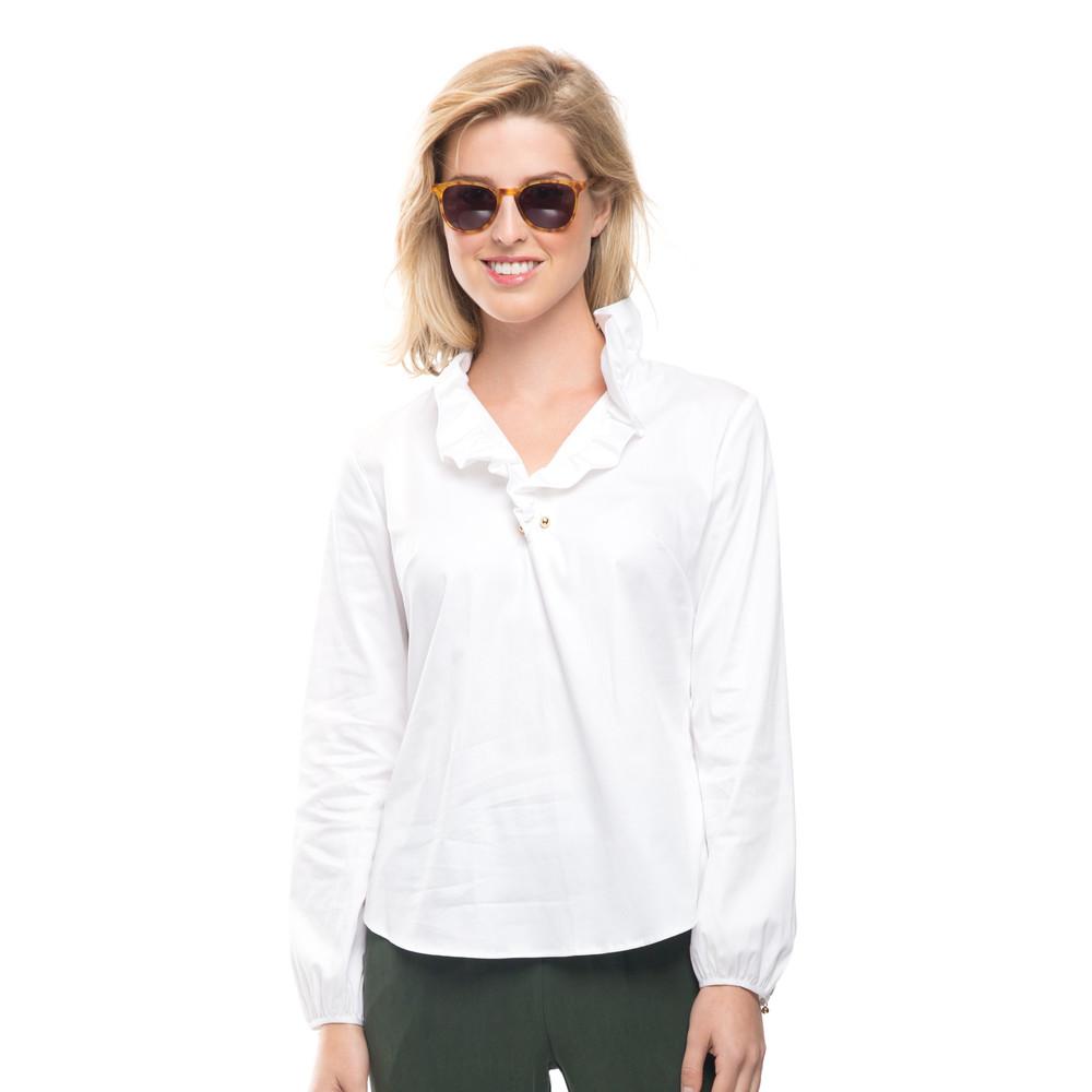 Elizabeth McKay  ,   White Elizabeth Shirt  , $195