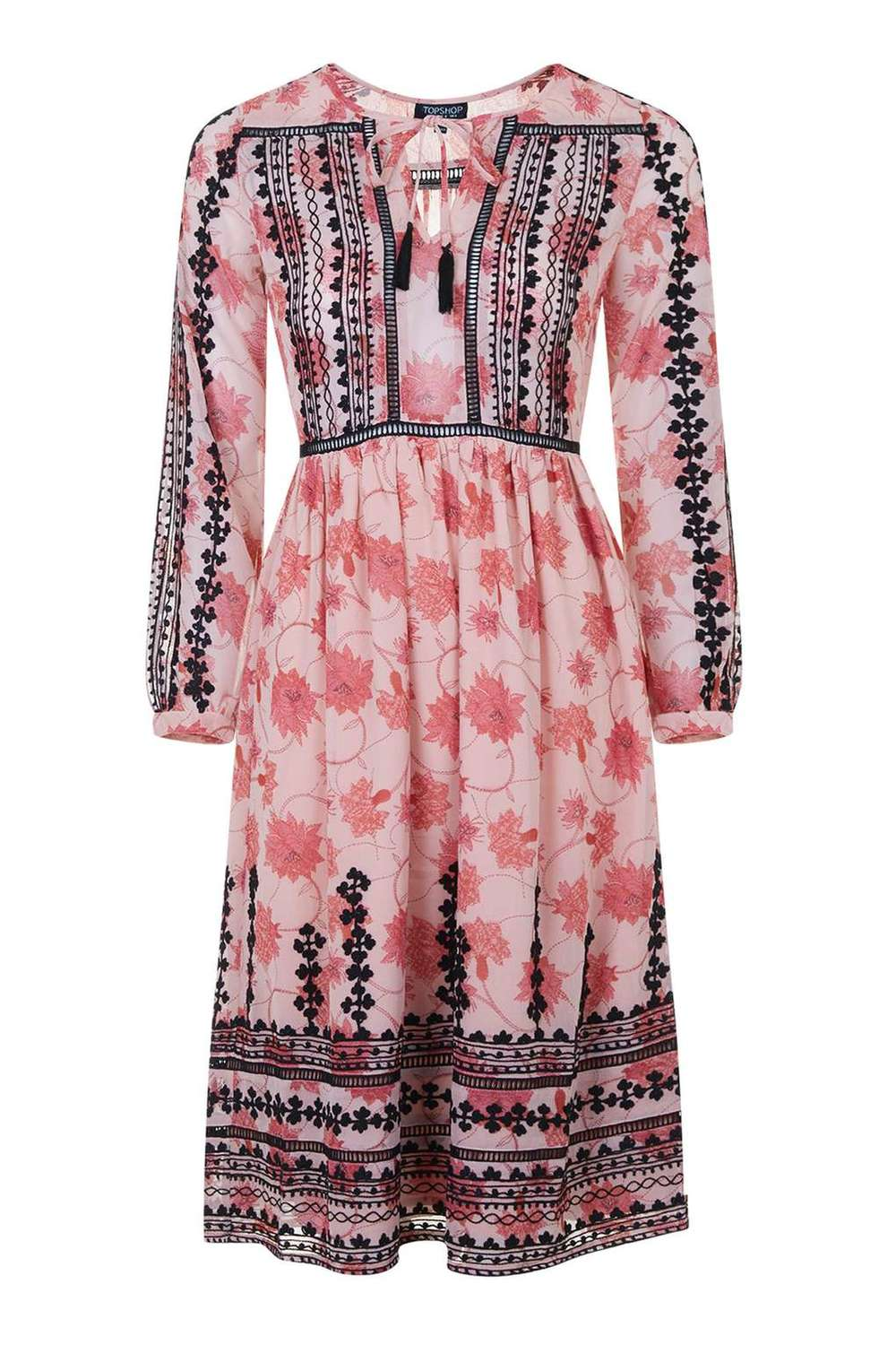 Topshop, Embroidered Smock Dress, $81