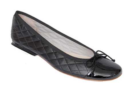 French Sole, Quilted Ballet Flats, $205