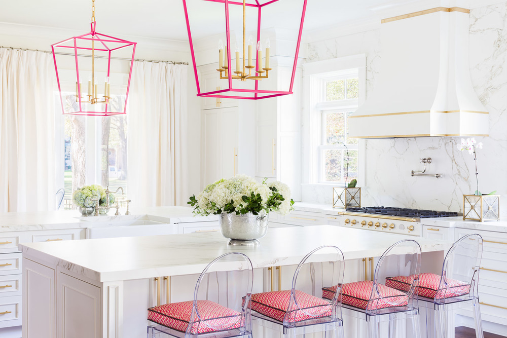 The White and Pink Kitchen of Our DreamsLIBBY LIVING COLORFULLY