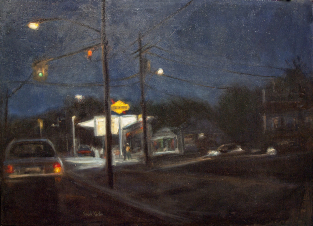 """Right Turn - oil on canvas 26"""" x 36"""""""