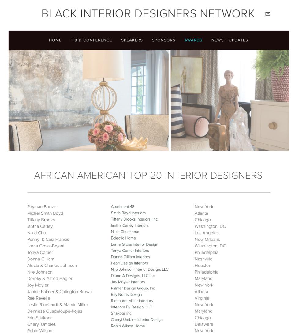 2016 African American Top 20 Designers