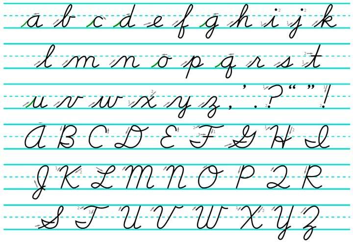 New American Cursive Calligraphy