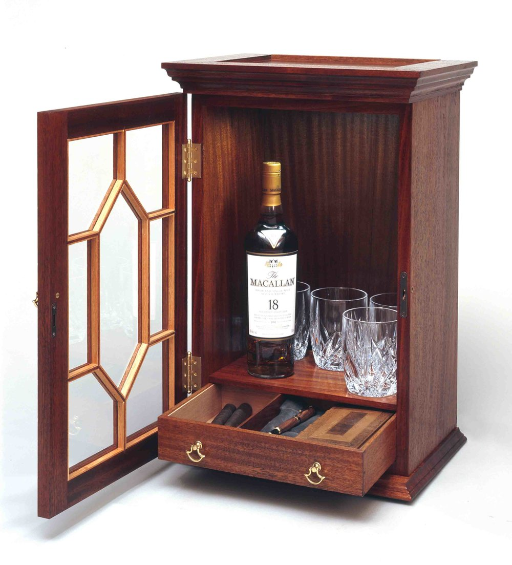 Whiskey Cabinet Sapele