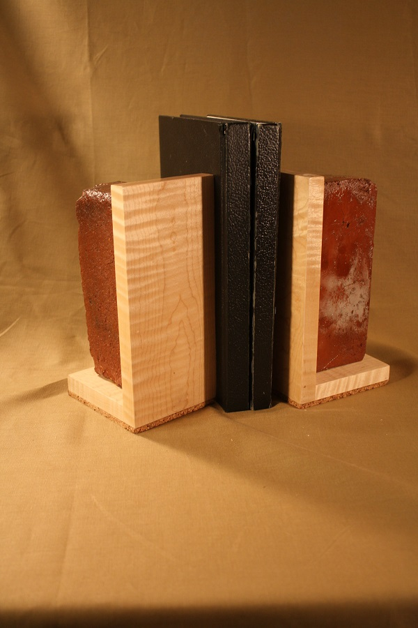Bookends with Reclaimed 19th century bricks