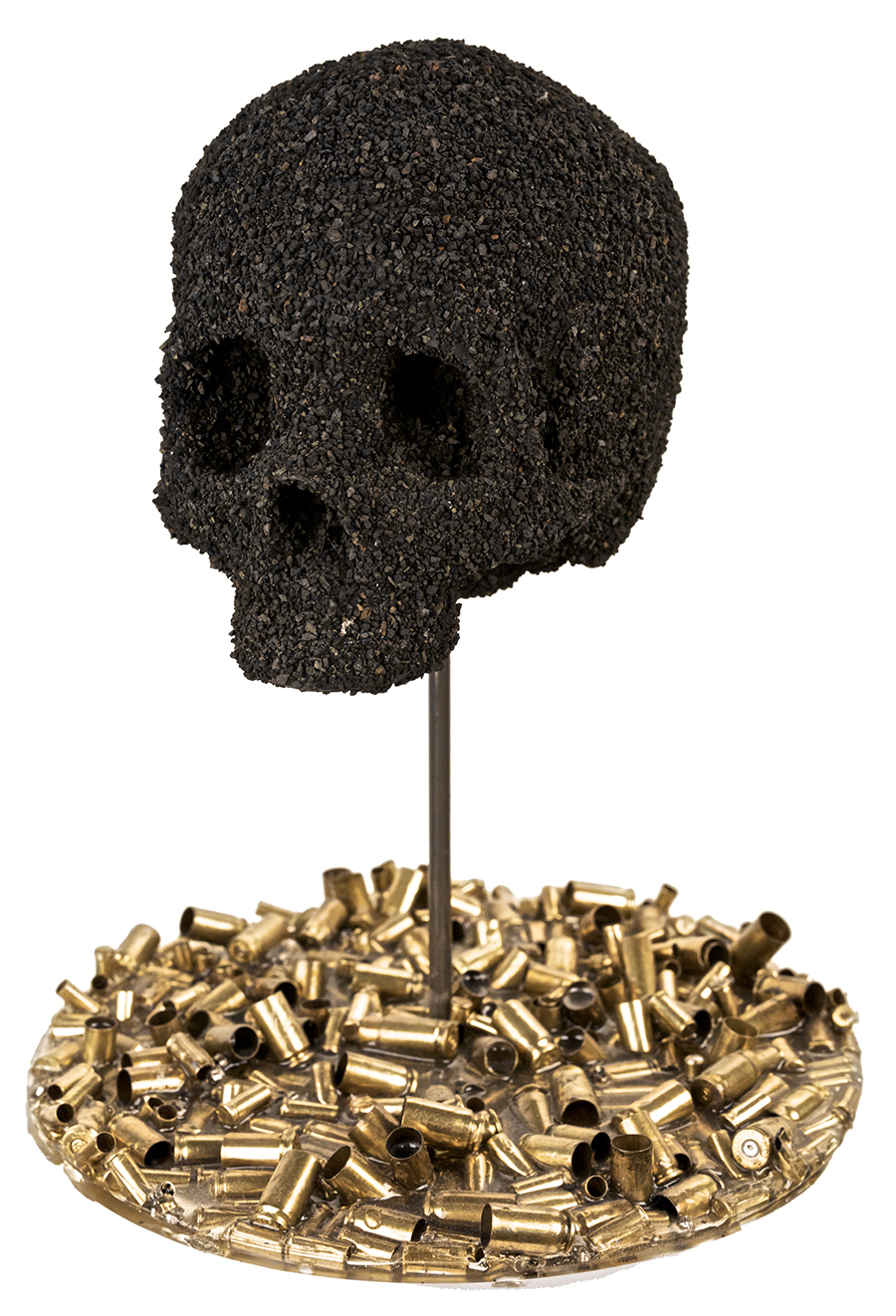 """REMNANTS OF THE HUMAN CONDITION""  GUNPOWDER, CHARCOAL, RESIN, OIL, BULLET CASINGS"