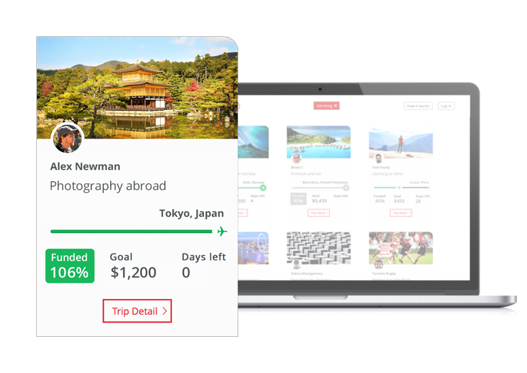 Each trip page has its own tile that's featured on the homepage. Visitors can choose to search tiles or browse by most popular or most recent.