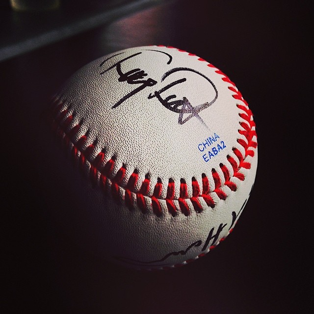You only officially pass your thesis defense if they sign your baseball afterward.