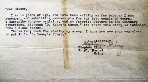 scribnerbooks :     Stephen King, age 14.