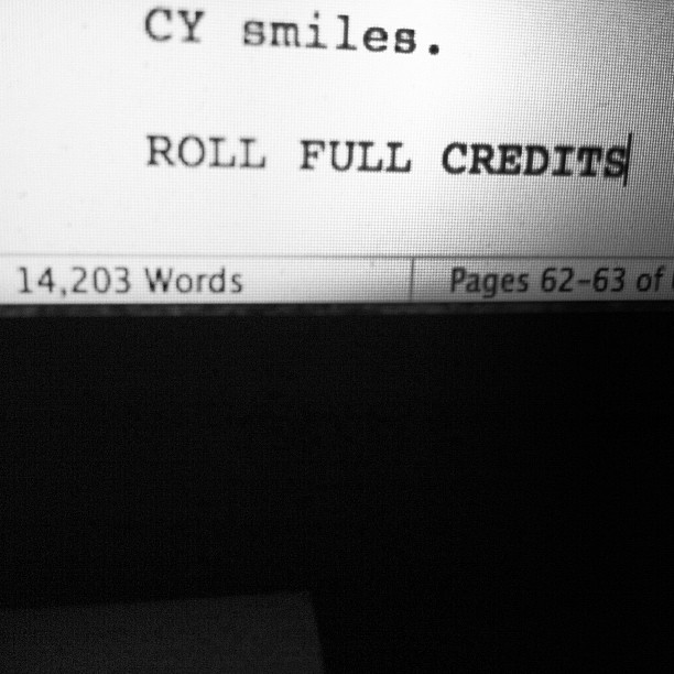 First draft done. Jesus. How long is a movie script supposed to be anyway? #noidea (Taken with  instagram )