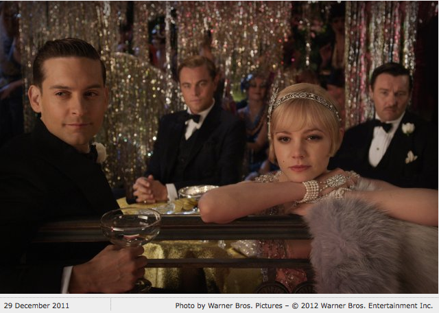 scribnerbooks :      The Great Gatsby , directed by Baz Luhrmann ( Moulin Rouge, Strictly Ballroom ) and starring Leonardo DiCaprio, Carey Mulligan, and Tobey Maguire, is set to release this Christmas. You have 291 days to read (or re-read) the book!     Breaking my no-color-photo rule to post this.