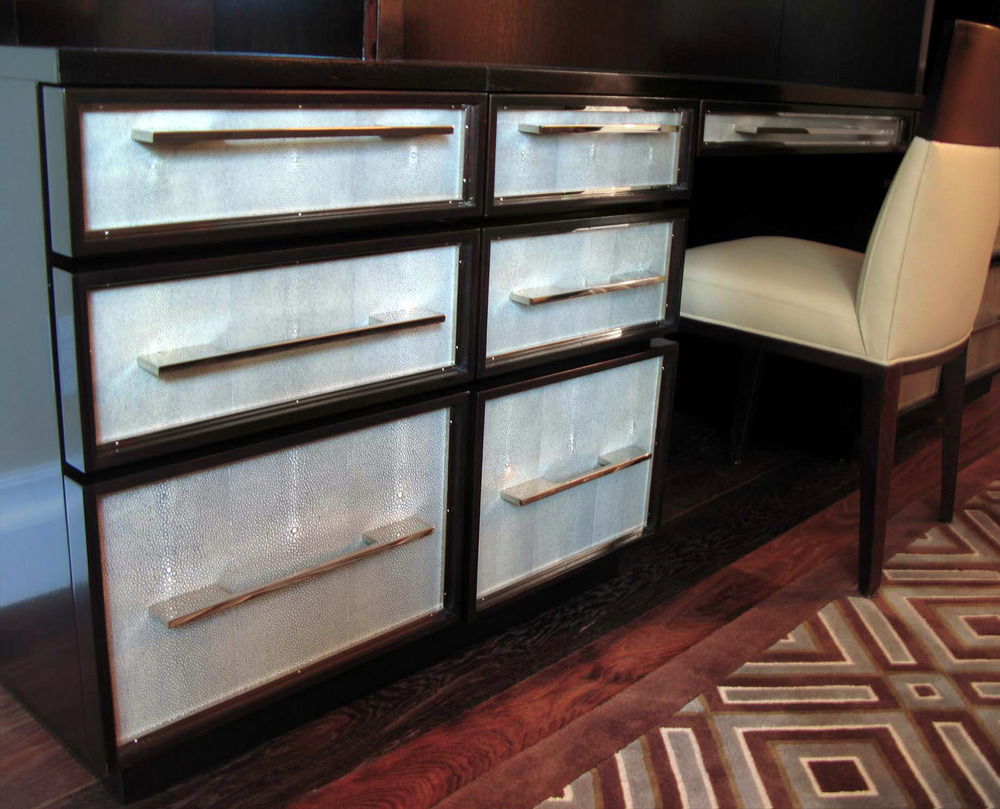 Inlaid Desk Drawers