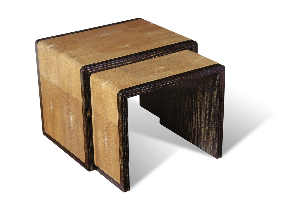 3012S Shagreen Nesting Tables
