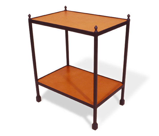 3091L Etagere 2 Leather Wrapped Shelves