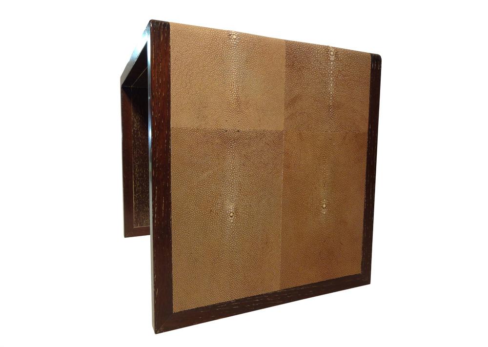 brown shagreen nesting table single side.jpg