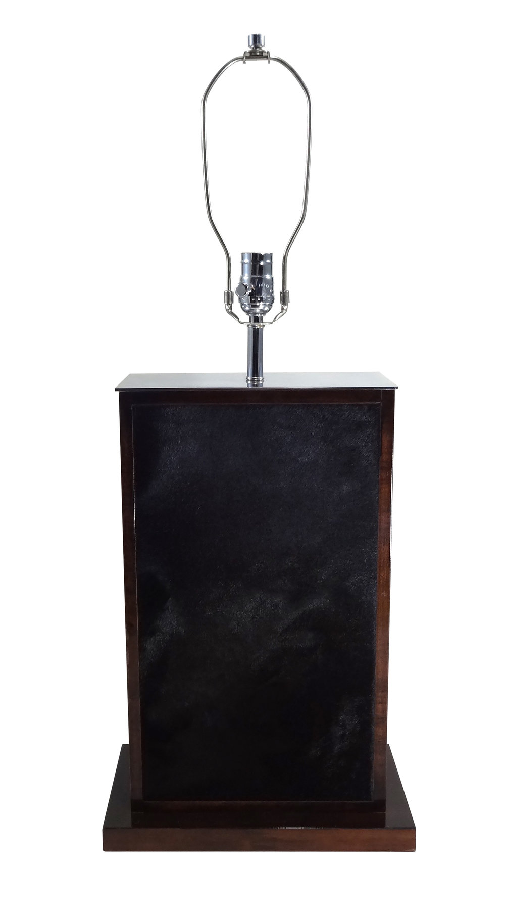 Large Tetra Negra Table Lamp Nickel