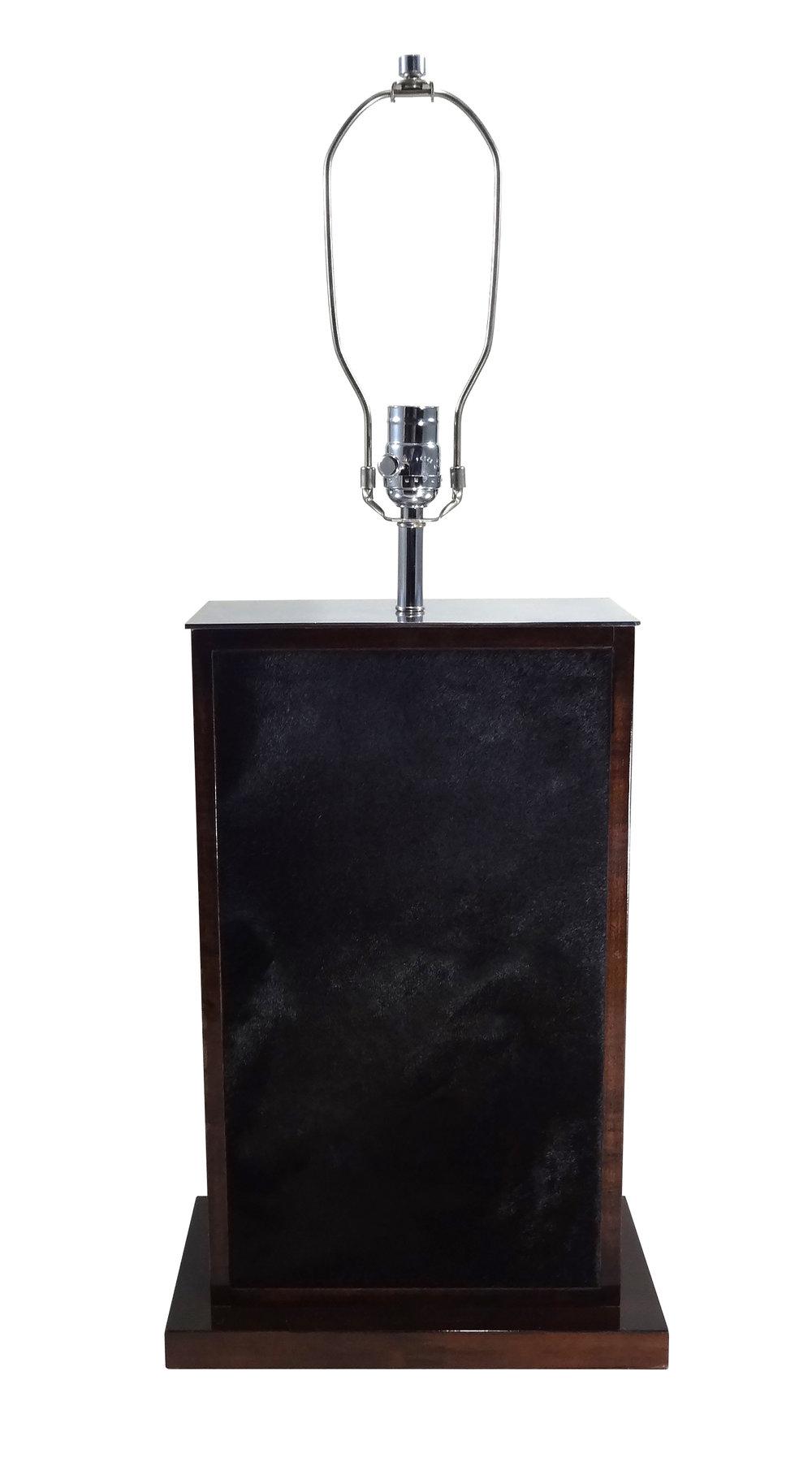 *Large Tetra Negra Table Lamp Nickel