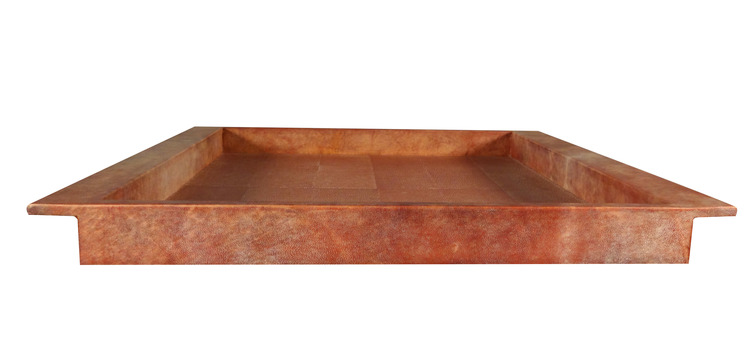 Red Parchment & Shagreen Tray