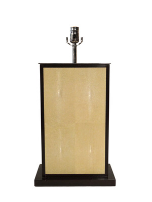 Large Shagreen Table Lamp Nickle