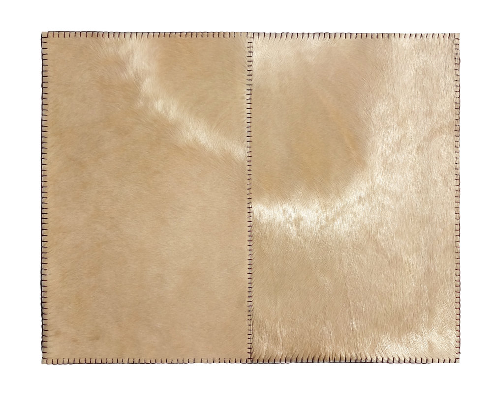 Stitched Blond Cowhide