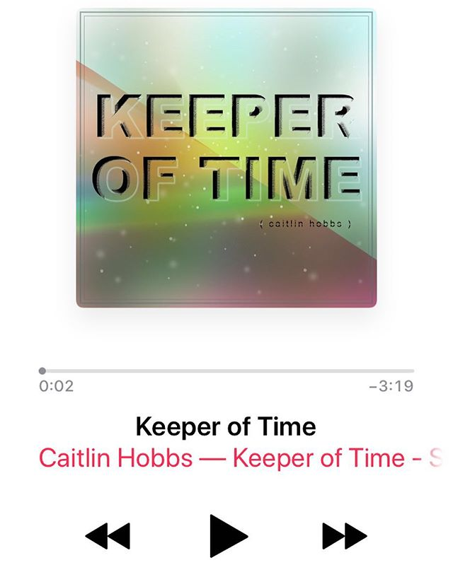 So my little ditty is officially up on #iTunes! Which means it's up pretty much everywhere music can be found! Go give it a listen 👂🏼 #KeeperofTime