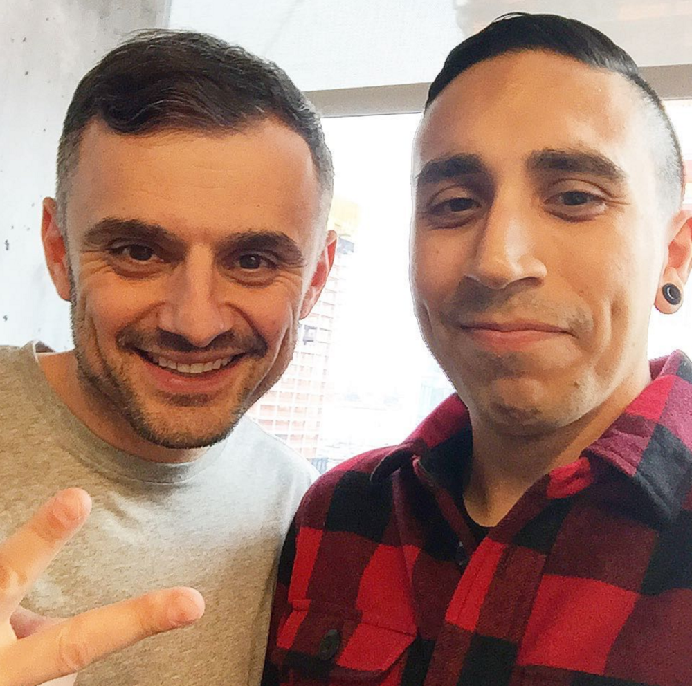 Gary Vaynerchuk and I at the Daily Digital Deep Dive at Vaynermedia in New York City.