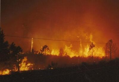 The  Awbrey Hall fire  burned 22 homes west of Bend in 1990