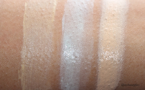 L-R: Yellow Corrector, Green Corrector and Concealer - Light