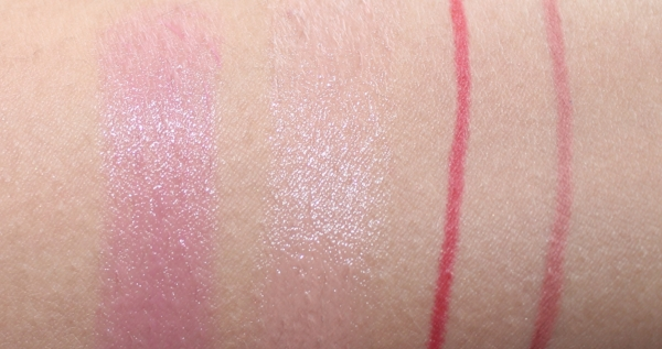 L-R: Balms - Love and Tell,  Liners -Red the Scene and Bare to Comment