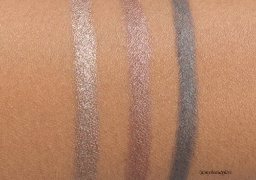 L-R: Pale Nude No.102, Rosewood No.112 and Stone Grey No.124