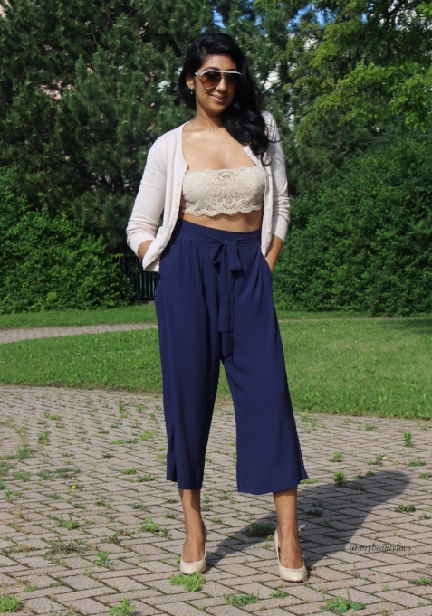 Gen Beauty Day 1 : Pants from M Boutique, Bralette from Victoria Secret and sweater from H & M