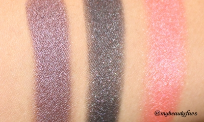 L-R: Debauched Duo Eyeshadow and Fetishized Blush