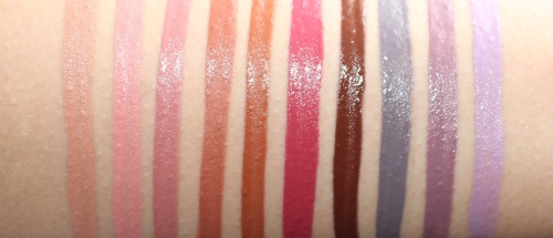 Swatched in order listed below