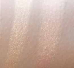Dreamsicle compared to  NYX Synthetica Highlighter