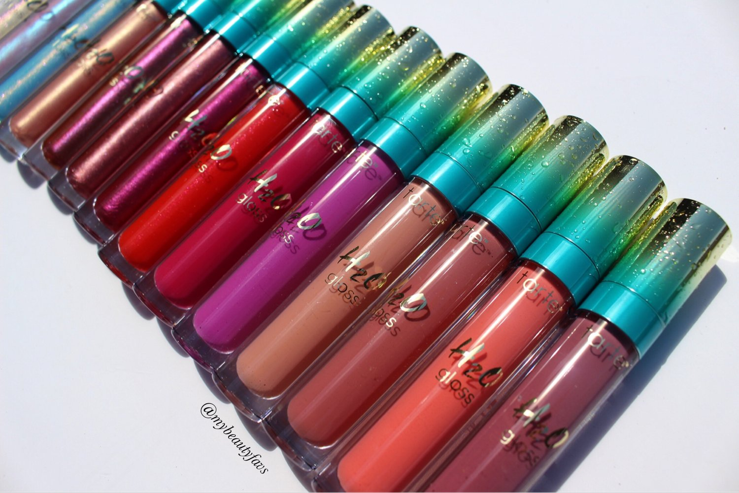 027cfaeb036 Tarte H2O Lip Gloss - Rainforest of the Sea Collection  Swatches of the  Entire Collection