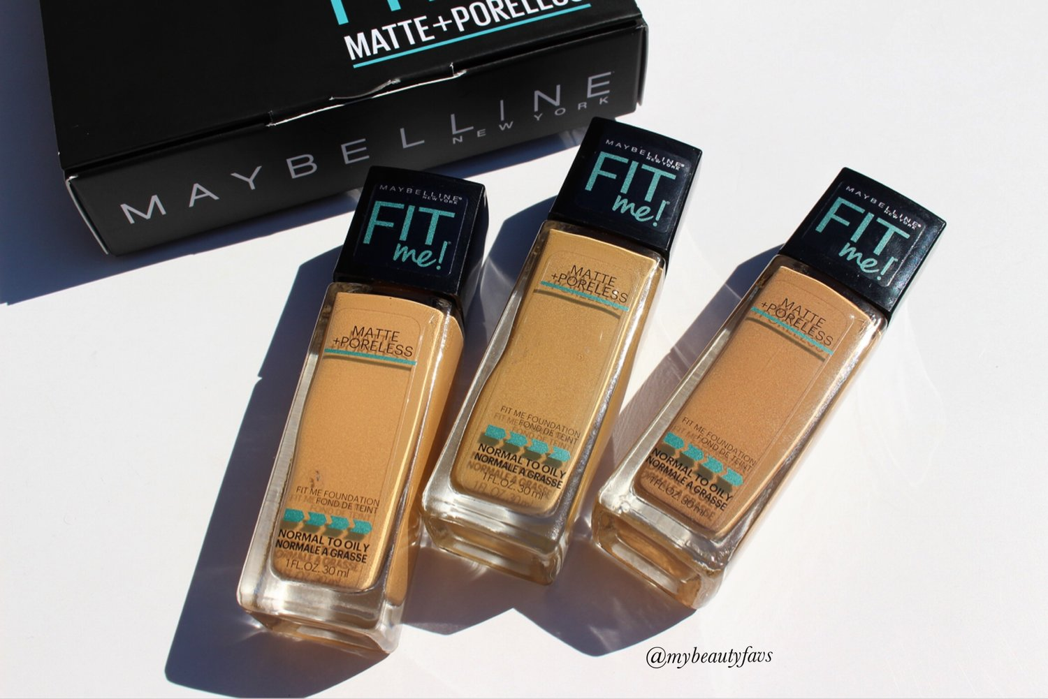 Maybelline Fit Me! Matte + Poreless Foundation - #312, 322 & 332