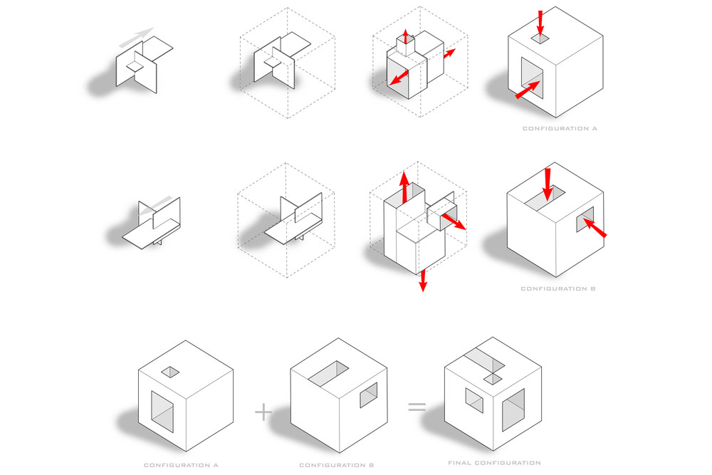 Digital diagram of Cube House project