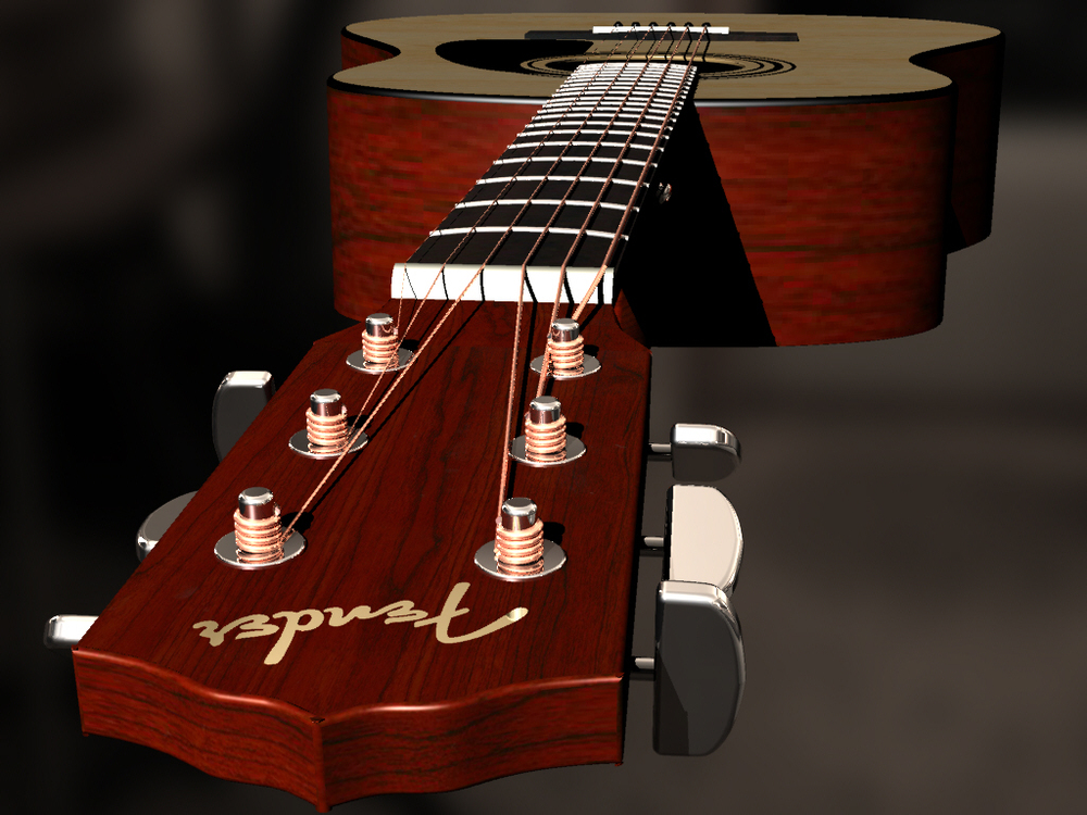 Guitar Modeled in Rhinocerous