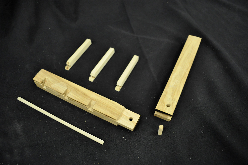 A mock-up of the joints used in the final design.